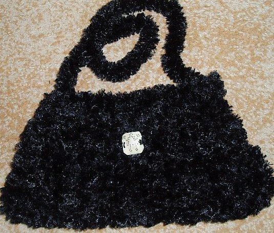Black Crystal - knitted bag