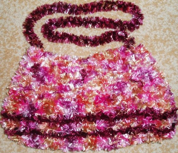 Crystal - knitted bag