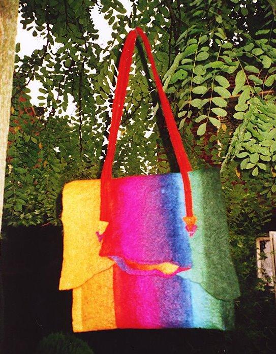 'Parc Guell' felt bag