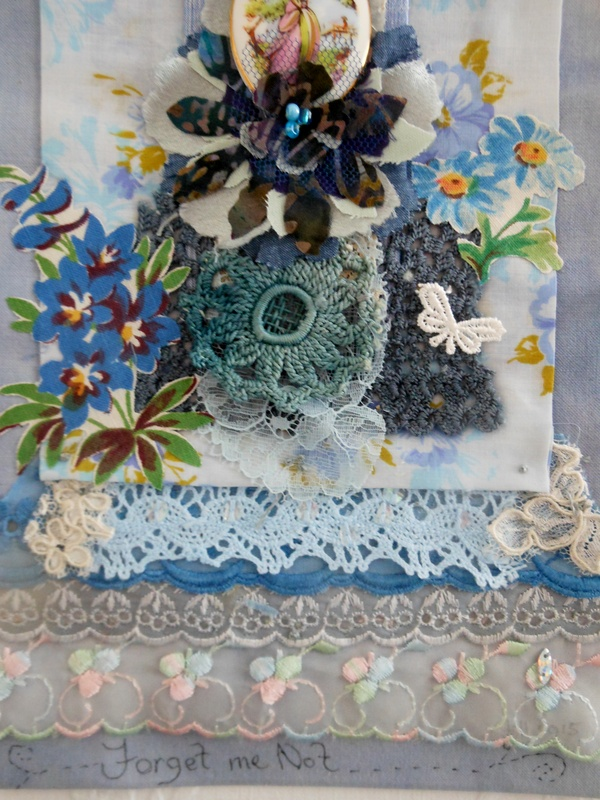 detail of Forget me not panel